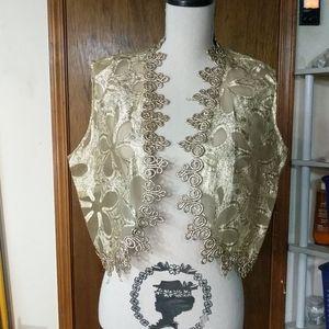 Funky vintage gold vest